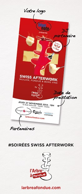 Exemple Flyer Event Swiss AfterWork ou Alps'AfterSki